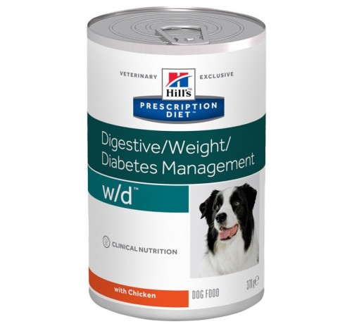 Hill's Prescription Diet w/d Cane umido da 370 gr