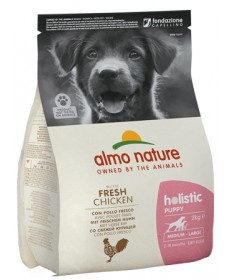 Almo Nature Holistic per Cane Puppy Medium Large con Pollo e Riso da 2 Kg