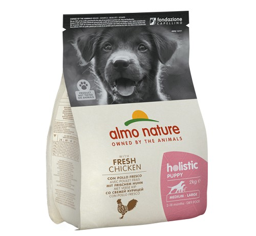 Almo Nature Cane Holistic Medium Puppy con Pollo e Riso 2 Kg