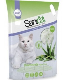 Lettiera Sanicat Diamonds con Aloe Vera da 15 Lt