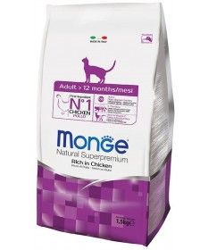 Monge Natural Superpremium Adult Gatto Secco Ricco di Pollo