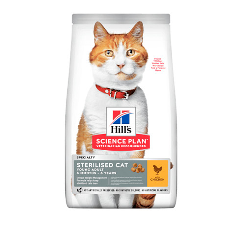 Hill's Science Plan Gatto Young Adult Sterilised da 1,5 Kg