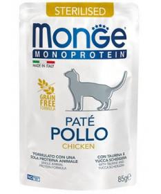 Monge Patè Monoprotein per Gatti Adulti Sterilizzati da 85 gr