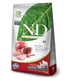 Farmina N&D Adult Medium Cane Secco Pollo e Melogranoda 2,5 Kg