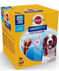 Pedigree Mega Pack Dentastix Daily Oral Care per Cani Medium (10-25 kg) da 105 pz