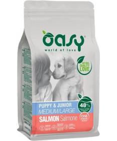 Oasy Cane Secco Monoproteico Puppy e Junior tutte le taglie con Salmone