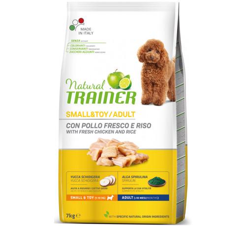 Trainer Natural per Cane Adult Mini con Pollo Fresco, Riso, Yucca e Alga Spirulina da 7 Kg