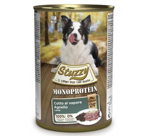 Stuzzy Monoproteico Cane umido da 400 gr