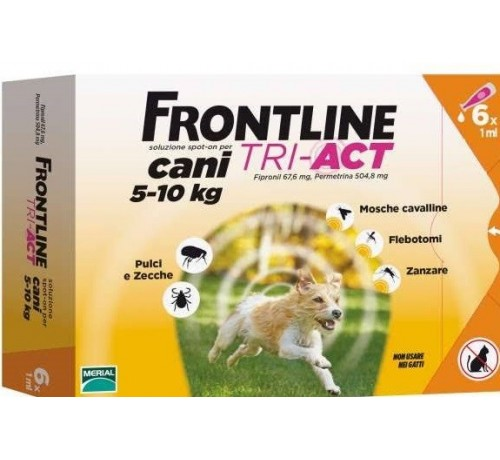 Frontline tri-act Cani 5-10 kg 6 pipette
