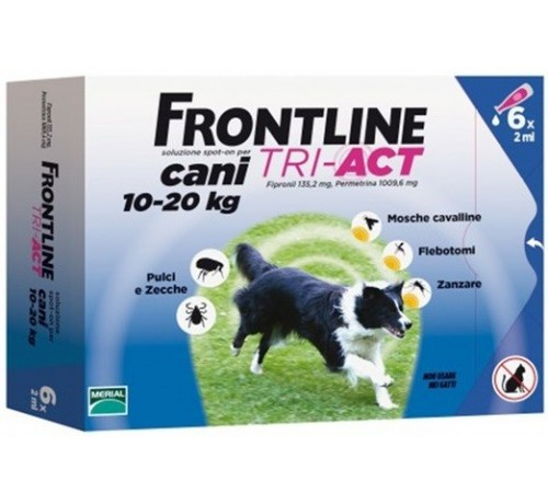 Frontline tri-act Cani 10-20 kg 6 pipette