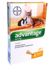 Advantage Spot-On 40 per gatti e conigli <4 Kg