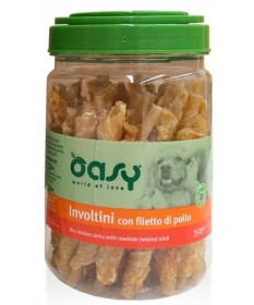 Oasy Snack per Cane Involtini con Filetto di Pollo da 350 gr
