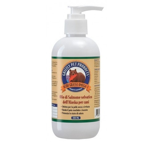 Grizzly Pet Products olio di salmone 500 ml