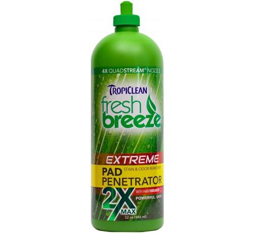 TropiClean Fresh Breeze Extreme Pad Penetrator elimina macchie e odore da tappeti e moquette 946ml