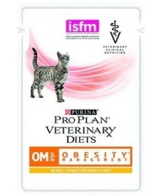 Purina Pro Plan Veterinary Diet OM Obesity Management per Gatto in Bustina da 85g