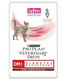 Purina Pro Plan Veterinary Diet DM Diabetes Management bustina 85g manzo