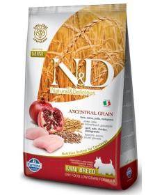 Farmina N&D Ancestral Grain cane Adult taglia mini con pollo, farro e melograno da 800gr