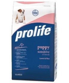 Prolife Sensitive per Cane Puppy All Breeds con Agnello e Riso