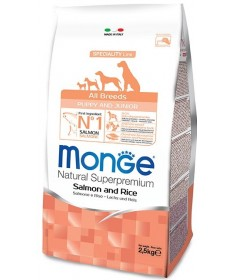Monge per Cane Puppy e Junior All Breeds con Salmone e Riso