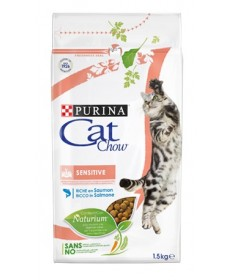 Purina Cat Chow Adult Sensitive con Salmone da 1,5kg