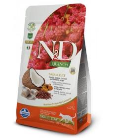 Farmina N&D Skin & Coat per Gatto Adult con Aringa Quinoa Cocco e Curcuma da 300g