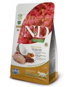Farmina N&D Skin & Coat per Gatto Adult con Quaglia Quinoa Cocco e Curcuma da 300g