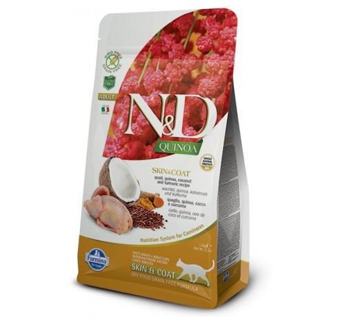 Farmina N&D Gatto Adult Skin & Coat con Quaglia Quinoa Cocco e Curcuma da 300g