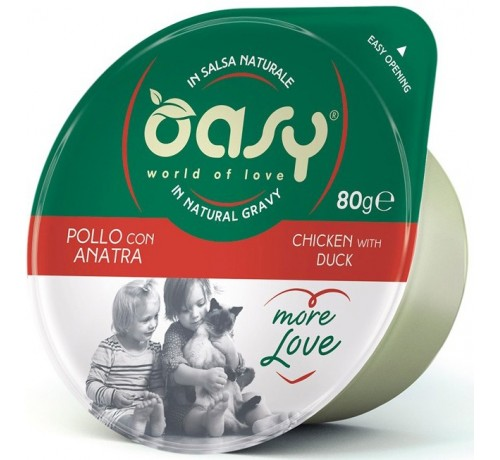 Oasy More Love Gatto Umido da 80 gr