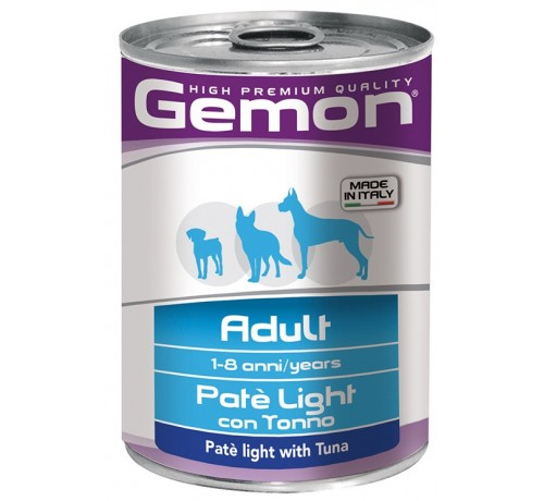 Gemon Adult Light Cane Umido Patè con Tonno da 400 gr