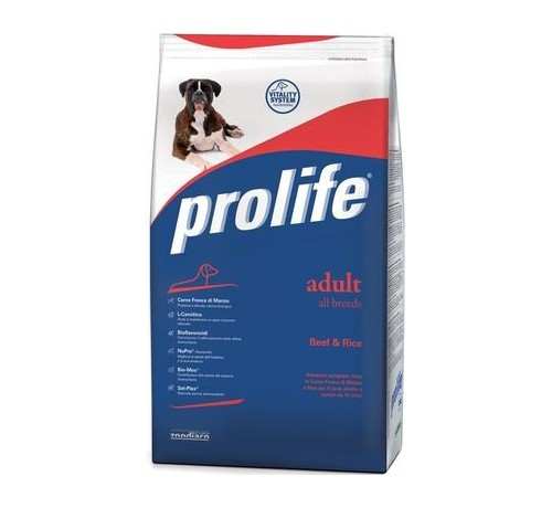 Prolife Cane Adult All Breeds con Manzo e Riso da 15kg