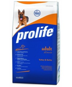 Prolife Cane Adult All Breeds con Tacchino e Orzo da 15kg