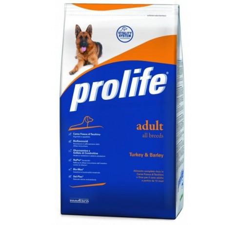 Prolife Cane Adult All Breeds con Tacchino e Orzo da 15kg