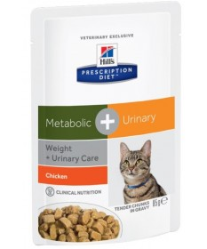 Hill's Prescription Diet Metabolic + Urinary per Gatto con Pollo da 85g