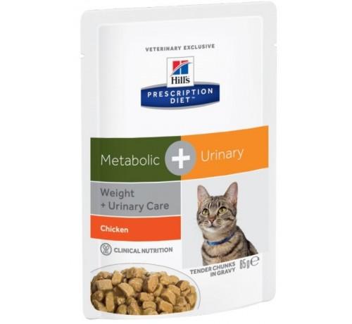 Hill's Prescription Diet Metabolic + Urinary per Gatto con Pollo da 85g