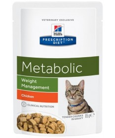 Hill's Prescription Diet Metabolic per Gatto con Pollo da 85g