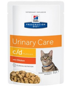 Hill's Prescription Diet C/D Multicare Urinary Care per Gatto con Pollo da 85g