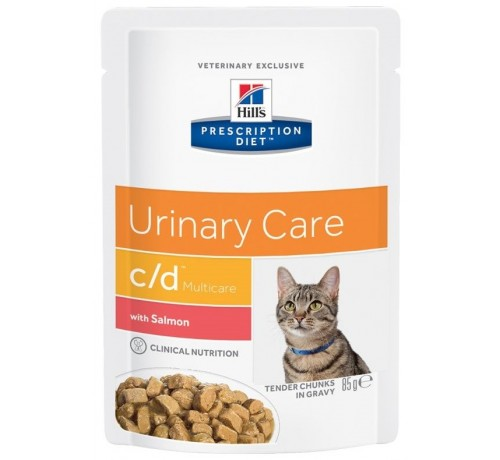 Hill's Prescription Diet C/D Multicare Urinary Care per Gatto con Salmone da 85g