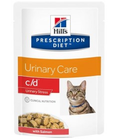 Hill's C/D Urinary Stress per Gatto con Salmone da 85g