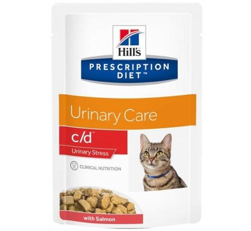 Hill's C/D Urinary Stress per Gatto con Salmone da 85g