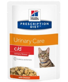 Hill's C/D Urinary Stress per Gatto con Pollo da 85g
