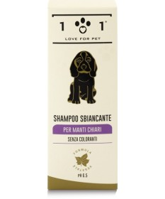 101 Love for Pet Shampoo Sbiancante per manti chiari