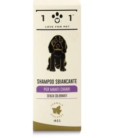 101 Love for Pet Shampoo Sbiancante per manti chiari