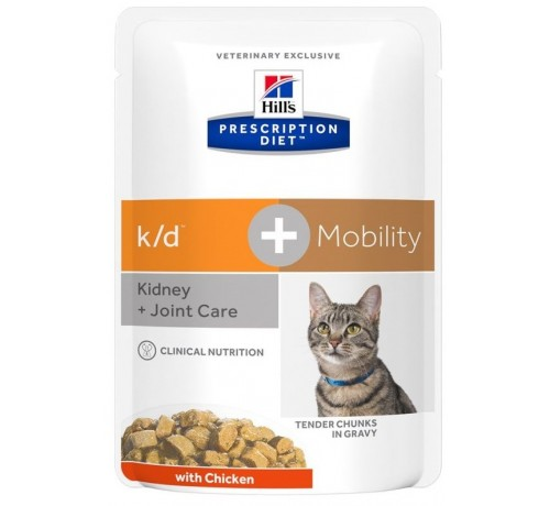 Hill's Prescription Diet k/d + Mobility per Gatto con Pollo da 85g