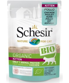 Schesir Bio per Gatto Kitten con Pollo in Busta da 85g