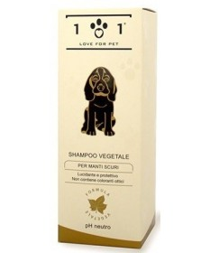101 Love for Pet Shampoo Vegetale per manti scuri da 250 ml