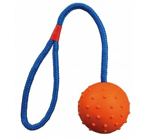 Trixie Palla in gomma con corda