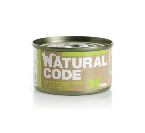 Natural Code per Gatto Baby e Kitten da 85g