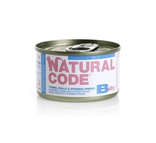 Natural Code per Gatto Baby e Kitten da 85g
