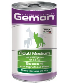 Gemon Adult Medium Cane Umido Bocconi da 1,25 Kg