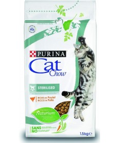 PURINA CAT CHOW STERILISED POLLO KG.1,5